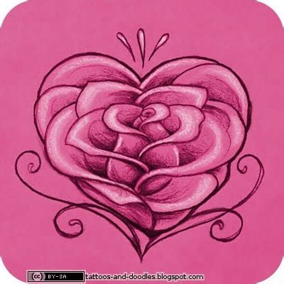 tattoos  doodles rose heart