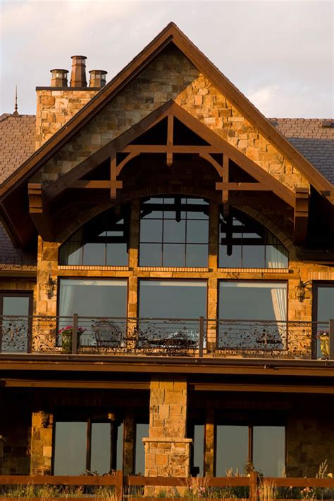 luxury house plans   swiss chalet style mountain home