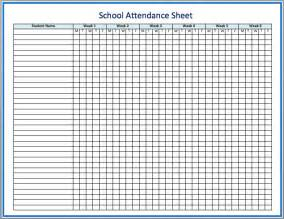 Employee Attendance Sheet Template Attendance Spreadsheet Template Sles For Classroom Or Office Vlashed