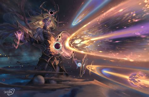 Wallpaper cart provides video game league of legends lux white hair long hair hd wallpaper background image. Dark Cosmic Lux Art by Koyamamichiru : lux