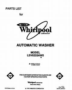 Whirlpool Lsv6233aw0 Washer Parts