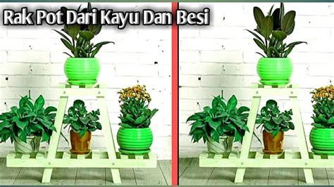 contoh gambar rak pot bunga rak pot kayu besi