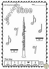Instruments Woodwind Anastasiya Studio Oboe Sheets Worksheets Multimedia sketch template