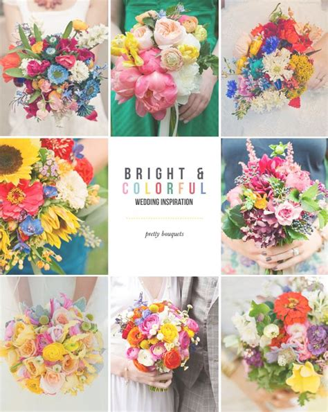 Hey Look Colorful Wedding Inspiration Bouquets