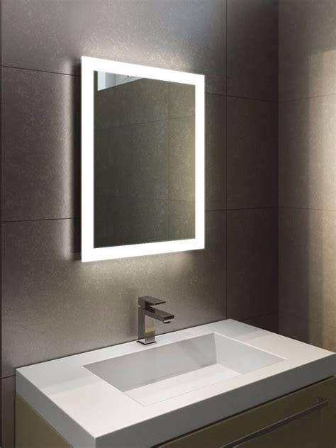 Halo Tall Led Light Bathroom Mirror  Led Illuminated