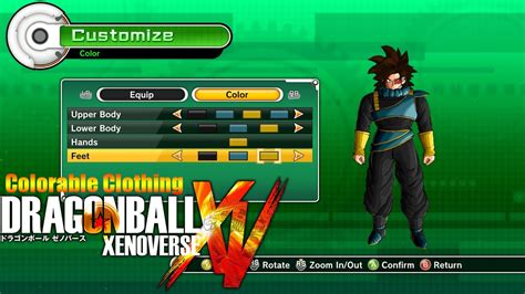 dragon ball xenoverse colorable males clothing mod youtube