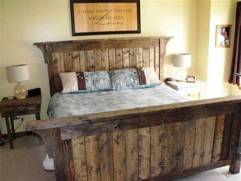 rustic wood headboard diy headboard for rustic king bed frame editeestrela design