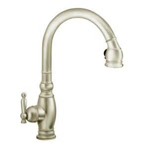 Kohler Faucet Kitchen Shop Kohler Vinnata Vibrant Brushed Nickel 1 Handle Pull Kitchen Faucet At Lowes