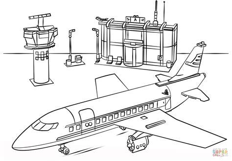Vliegveld Kleurplaat by Lego Vliegveld Kleurplaat Gratis Kleurplaten Printen