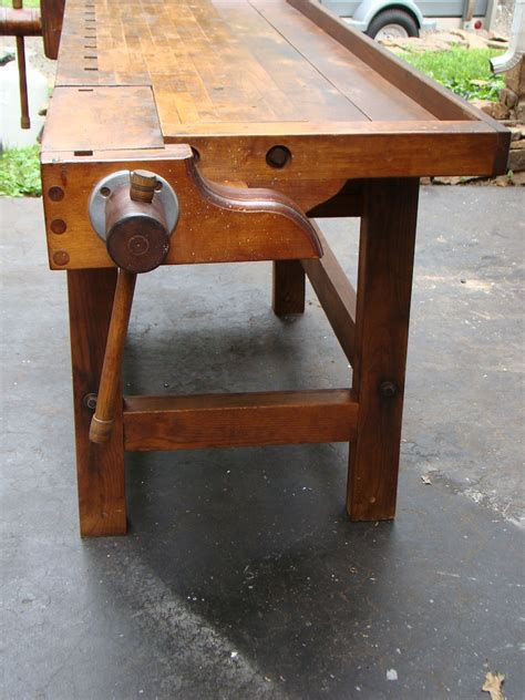 antique cabinet makers bench sold  industrial