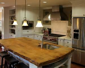 wood kitchen island five inc countertops 3 industrial style kitchen countertop ideas