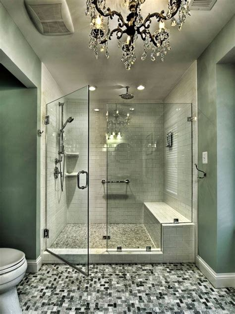 Big Tiles Bathroom by Shower Design Bench Bathroom Bench