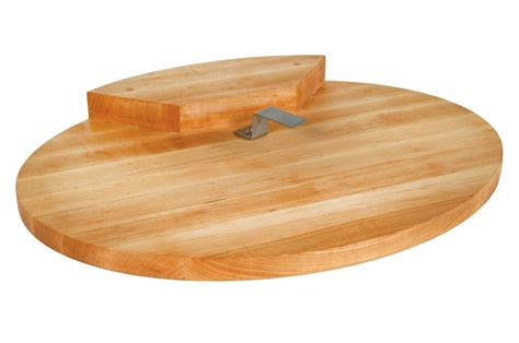 john boos maple oval corner counter saver cutting board  groove xx cutlery