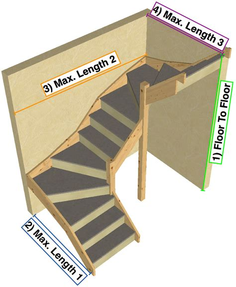 tkstairs guide    measure  double turn staircase