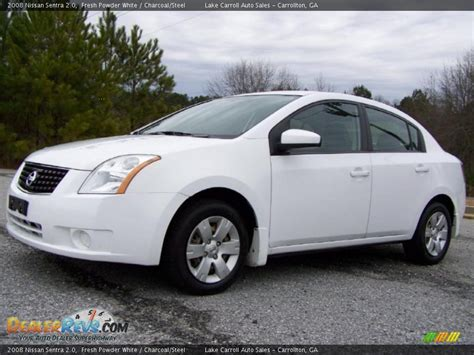 nissan 2008 white 2008 nissan sentra 2 0 fresh powder white charcoal steel