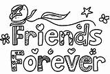 Coloring Friends Pages Friend Forever Drawing Words Printable Friendship Bff Designs Drawings Colorings Colouring Pal Colorful Draw Getcolorings Adults Getdrawings sketch template