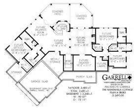 ranch floor plans with walkout basement nantahala cottage rustic mountain house plan
