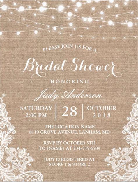 Bridal Shower Invitations Free - 26 free bridal shower invitations psd eps free