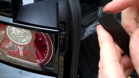 how to remove rear lights change bulbs on range rover