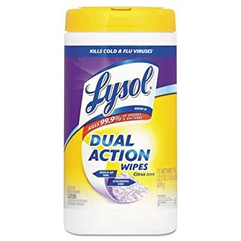 Amazon.com: LYSOL Brand Dual Action Disinfecting Wipes, 7