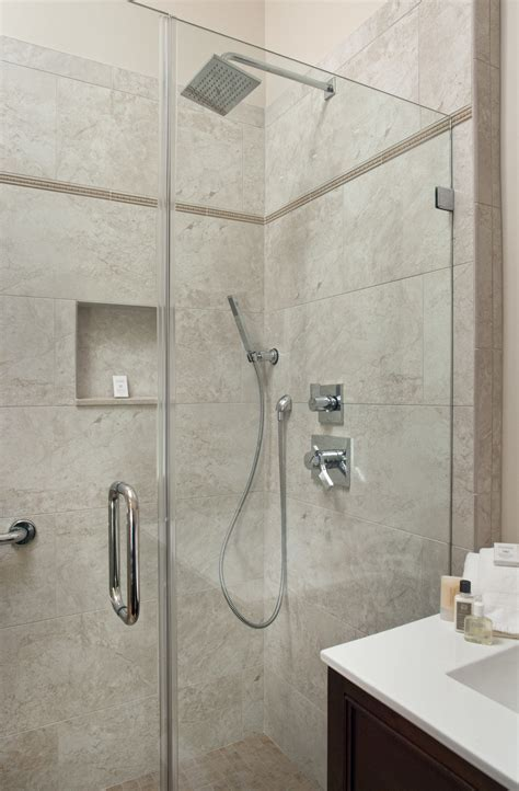 Shower White Porcelain Tile   Home Design Ideas : Perfect