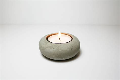 small apartment bathroom ideas minimalist concrete tea light holder interior design ideas