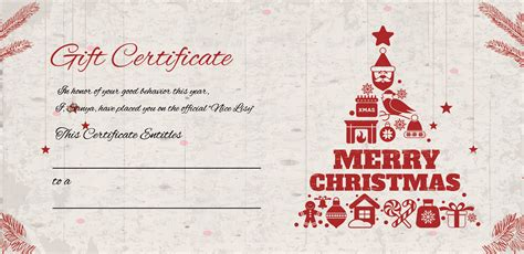 merry christmas gift certificate template  adobe photoshop