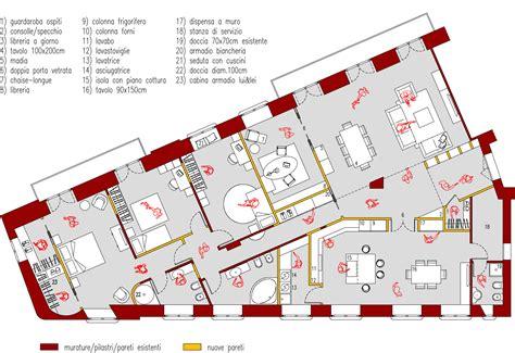 planimetria da letto progetto 210 mq architettura a domicilio 174