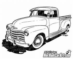 1970 chevy c10 truck hot rod car art With 1949 ford panel van