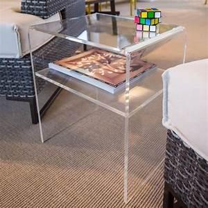 Table En Plexiglas : table basse plexiglas achat vente pas cher ~ Teatrodelosmanantiales.com Idées de Décoration