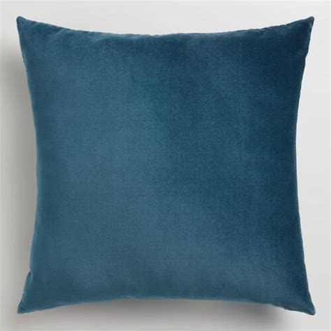 world market pillows midnight blue velvet throw pillow world market