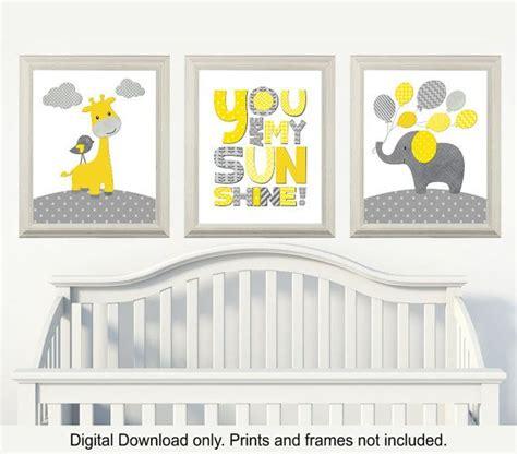 Kinderzimmer Junge Grau by Gelb Und Grau Giraffe Und Elefant Kinderzimmer Du Bist