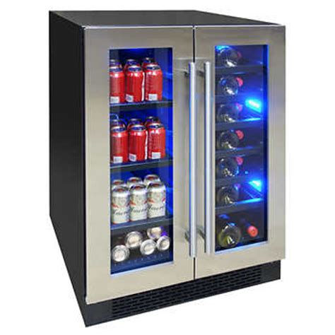 wine and beverage cooler element by vinotemp dual zone wine and beverage center el