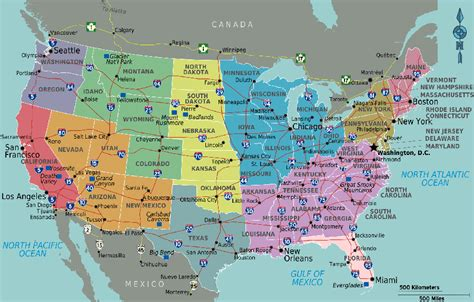 map   usa  states  cities usa map