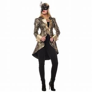 Gothic Kleidung Auf Rechnung : premium brokat jacke gold f r damen ~ Themetempest.com Abrechnung
