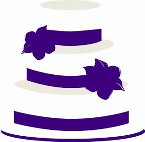 White And Purple Wedding Cake Clip Art at Clker.com ...