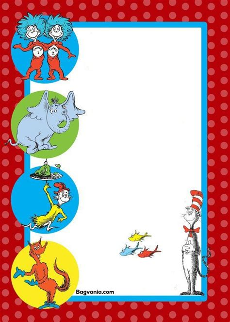dr seuss birthday invitations printables bagvania