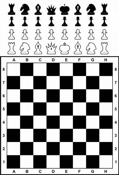 Chess Pieces Board Glossary Queen King History
