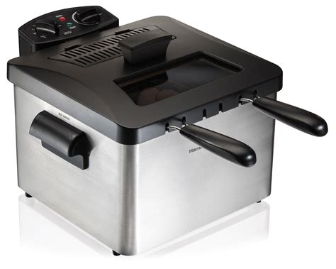 basket electric hamilton beach amazon oil professional fryer deep liter grade fish fryers chicken indoor rated frying capacity kitchen safety
