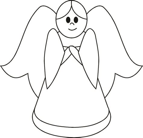 simple angel pictures clipart