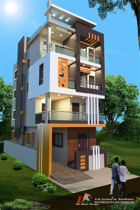 hone small house elevation design duplex house