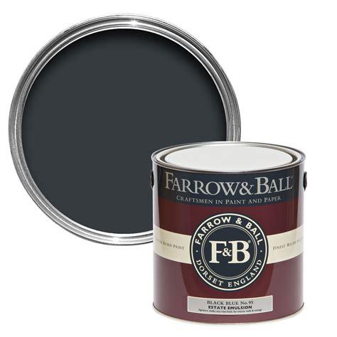 farrow ball black blue  matt estate emulsion paint