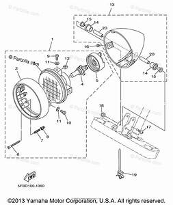 Yamaha Motorcycle 2001 Oem Parts Diagram For Headlight