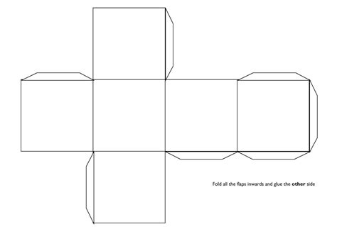 3d template 3d cube template teaching visuals handouts cube template and math