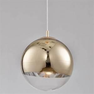 Suspension Globe Verre : suspension design globe 30 cm boule dor e transparente ~ Teatrodelosmanantiales.com Idées de Décoration