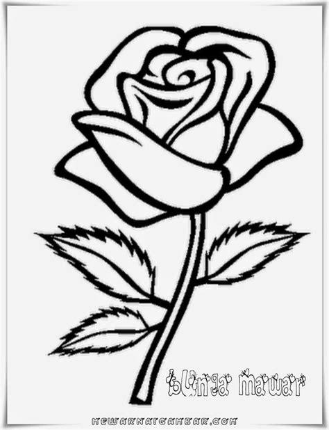 Gambar Mewarnai Bunga Mawar ~ Gambar Mewarnai Lucu