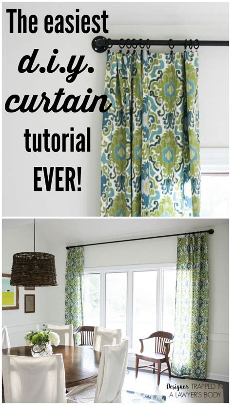 how to make drapery how to make curtains the easy way kaleidoscope living