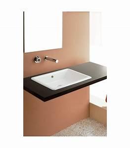 Vasque à Encastrer : vasque gaia encastrer scarabeo pour sanitaires ~ Edinachiropracticcenter.com Idées de Décoration