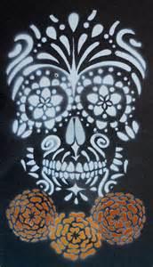 Sugar Skull Pumpkin Stencils Free by Sugar Skull Stencil On Tile By Darcydoll On Deviantart