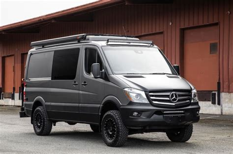There's also a complete bathroom and kitchen inside of the tiny home on. 2017 Mercedes-Benz Sprinter 2500 4x4 Sportsmobile Camper Van in 2020 | Benz sprinter, Mercedes ...